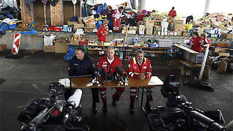 Pressekonferen mit Hans Peter Doskozil, Gerry Foltik und Thomas Wallner