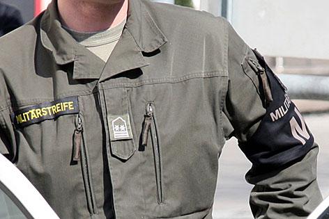 Militärpolizist der Militärstreife des österreichischen Bundesheeres