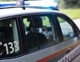 Unfall Satteins Polizeiauto Polizei