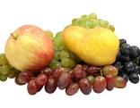 Apfel, Birne, Weintrauben