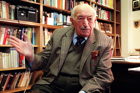 Simon Wiesenthal bei Interview im Jahr 1998