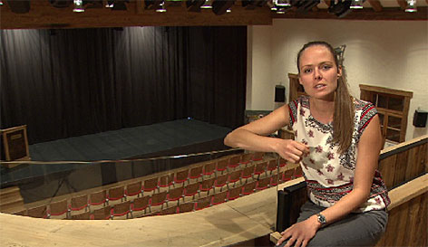 Katharina Garzuly in der Bachschmiede von Wals