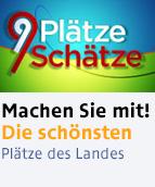 """Promo-Button """"Neun Plätze, neun Schätze"""""""