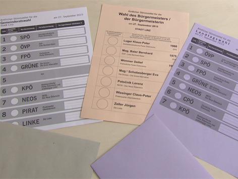 Stimmzettel zur Wahl am 27. September 2015