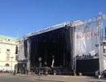 Bühne auf dem Heldenplatz