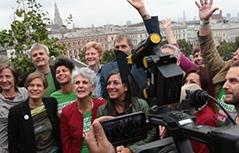 Wahlkampfabschluss der Wiener Grünen am 9. Oktober 2015 in Wien