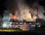Großbrand Schneizlreuth, brennendes Bauernhaus