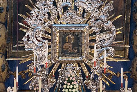Gnadenbild der Wallfahrtskirche Maria Plain bei Bergheim nördlich der Stadt Salzburg