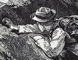 Zeichnung Bergsteiger