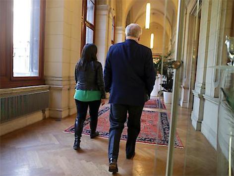 Vizebürgermeisterin Maria Vassilakou (Grüne) und Bürgermeister Michael Häupl (SPÖ)