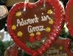 """Lebkuchenherz mit Aufschrift """"Advent in Graz"""""""