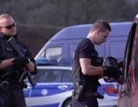 Grenzkontrolle  der deutschen Polizei