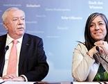 Bürgermeister Michael Häupl (SPÖ) und Vizebürgermeisterin Maria Vassilakou (Grüne)