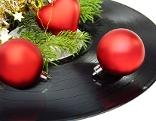 LP mit Weihnachtgskugeln