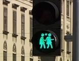 Fußgängerampel mit Ampelpärchen