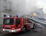 Feuerwehr bei Einsatz in Wien-Donaustadt
