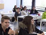 Schüler an HAK Feldkirch mit Übergangsklasse für Flüchtlinge