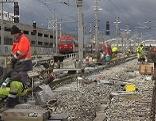 Letzte Arbeiten am Hauptbahnhof