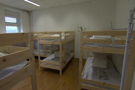 Betten im Ex-Publizistik-Institut