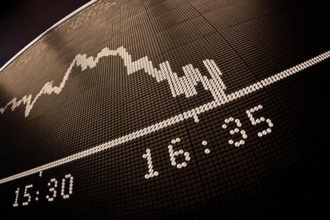 Börse Chart Grafik Kurse Fallen