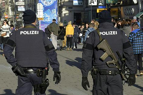 Polizei in Wiener Innenstadt