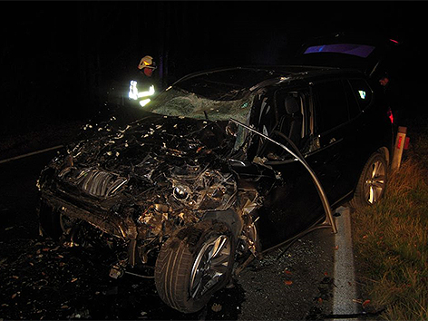 Eines der beiden Unfallautos