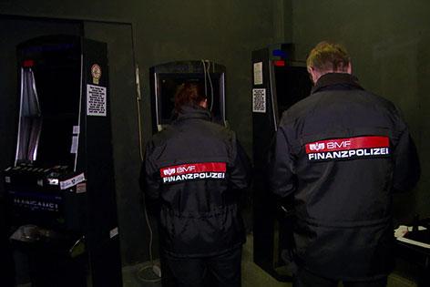 Finanzpolizei und Glücksspielautomaten