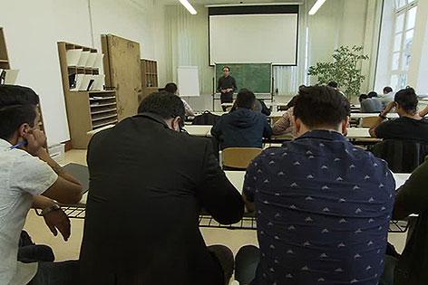 Flüchtlinge bei AMS-Kurs