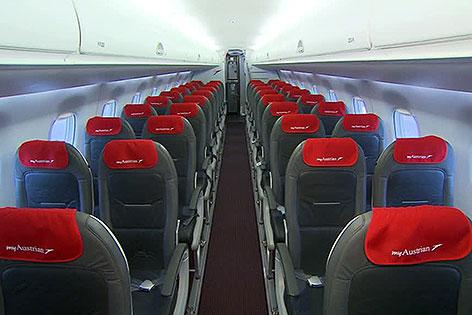 Embraer-Jet der AUA innen