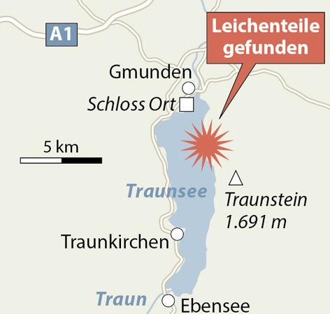 Leichenteile im Traunsee gefunden