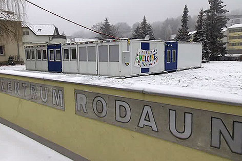 Container im Pfarrzentrum Rodaun