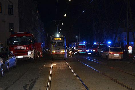 Feuerwehreinsatz in Wien-Brigittenau