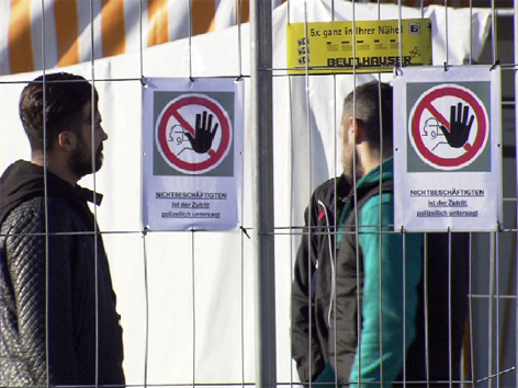 Flüchtlinge Transitzelt Schärding