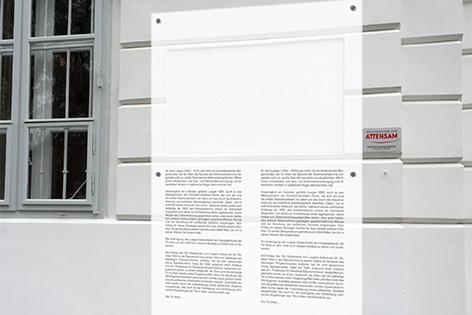Visualisierung Zusatztafel Karl Lueger
