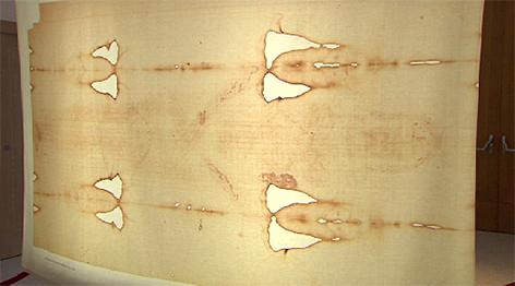 Kopie des Turiner Grabtuches bei Ausstellung der Malteser in Salzburg