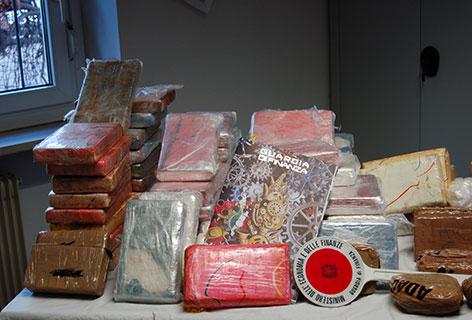 Kokain Packungen