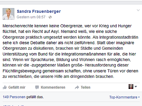 Facebook Sandra Frauenberger