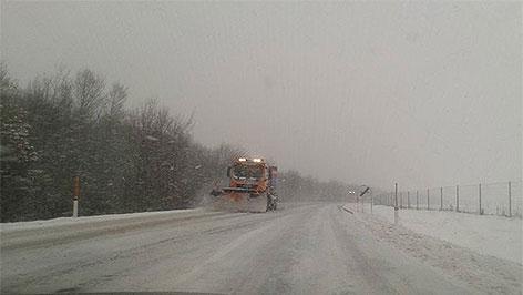 Winterliche Fahrverhältnisse auf Burgenlands Straßen