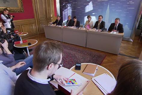 Vor Asylgipfel - Städte rufen den Bund zur Ordnung - Stadtschefs im Wiener Rathaus