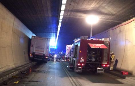 Unfall im Arlbergtunnel
