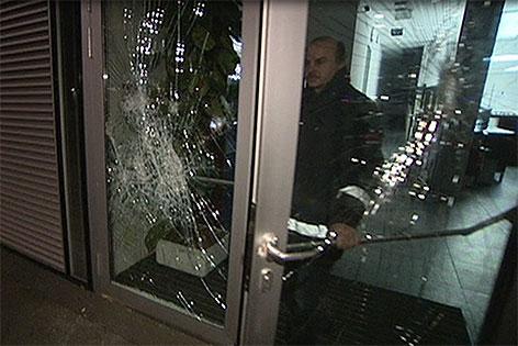 Security bei zerstörter Auslage