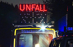 Unfall A2 Polizist angefahren