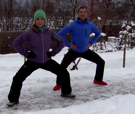 Entengang-Übung mit Doresia Krings und Michael Mayrhofer