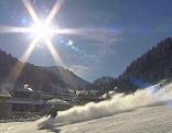 Schneelage zu Ferienbeginn, Skifahren, Skipiste