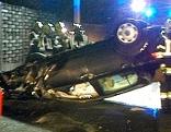Verkehrsunfall Villach Pkw Überschlag