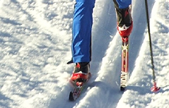 Klassischer Diagonalschritt Langlauf Skilanglauf Skilanglaufen