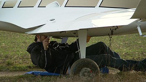 Notgelandetes Flugzeug