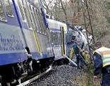 Züge an Unfallstelle