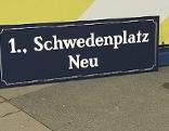 Schwedenplatz Schild