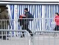 Geflüchtete Menschen an der österreichisch-slowenischen Grenze in Spielfeld